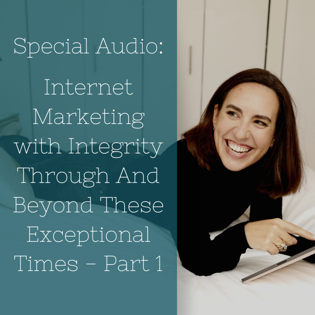Audio - marketing with integrity for the self-employed highly sensitive person
