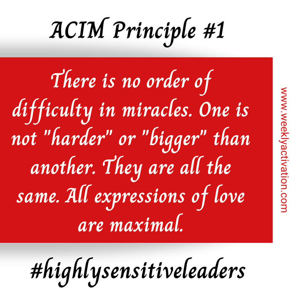 Highly Sensitive Leadership A Course In Miracles Principle 1