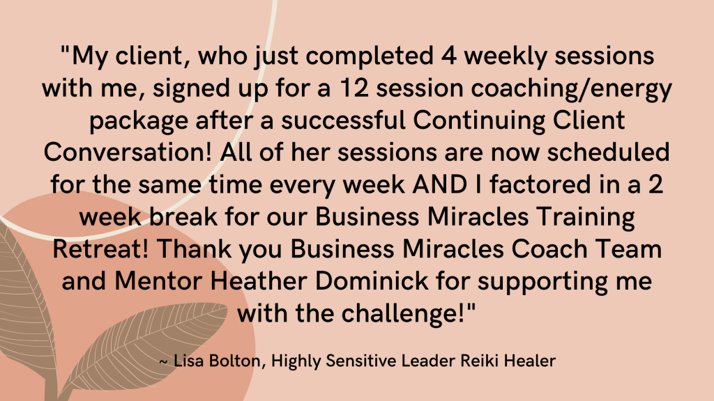 Highly Sensitive leader Testimonial