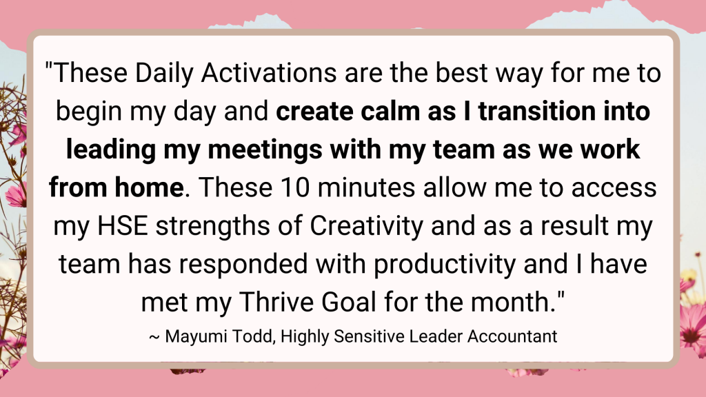 highly sensitive person business owner testimonial
