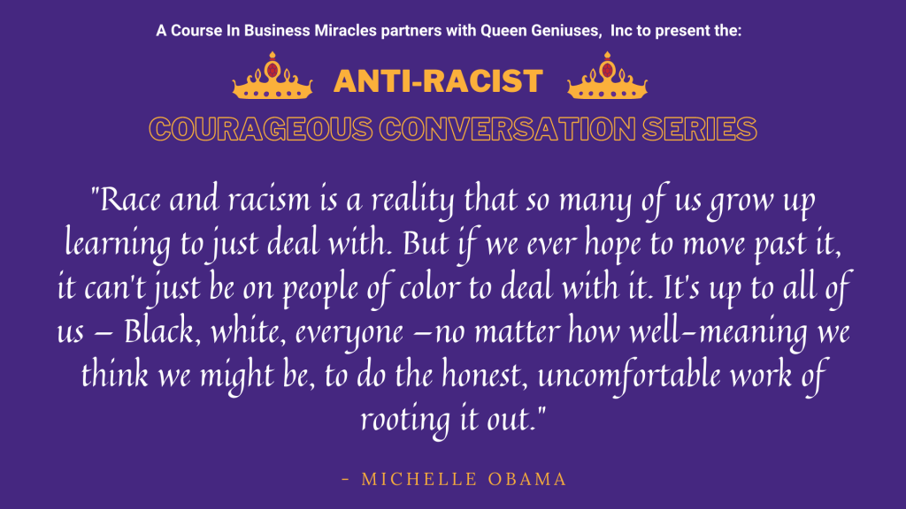 Highly Sensitive Leader Anti-Racist Courageous Conversation Series