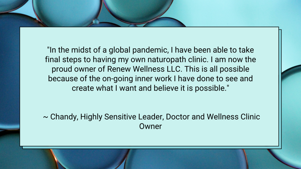 self-employed highly sensitive person testimonial
